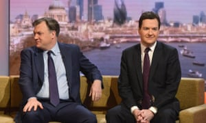Ed Balls, left, and George Osborne clashed in the Commons over HSBC