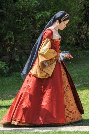 Claire Foy as Anne Boleyn in BBC2's Wolf Hall.