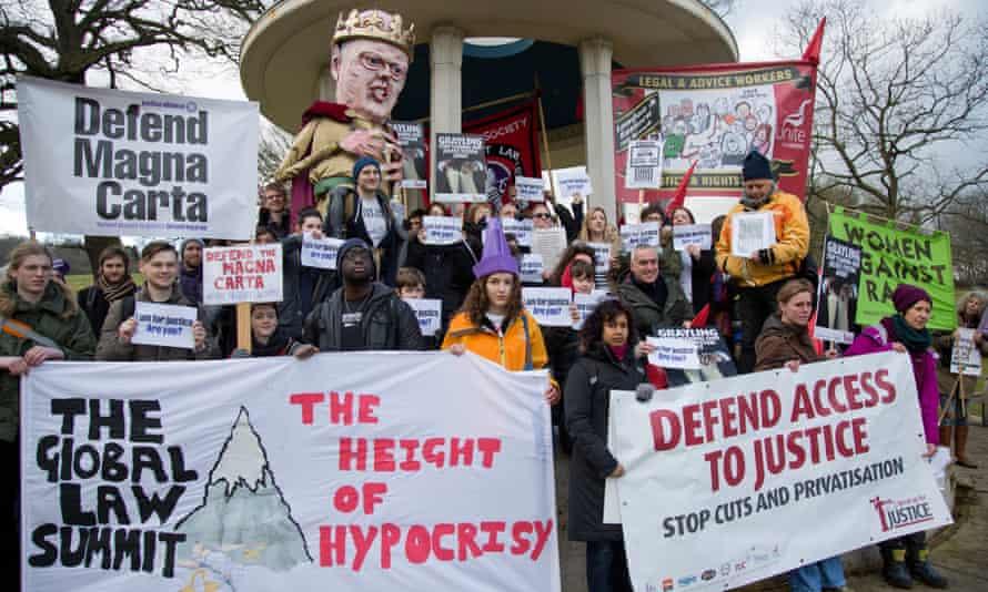 Justice Alliance Runnymede Magna Carta protest