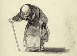 """A detail of """"He can no longer at the age of 98,c. 1819-23"""""""