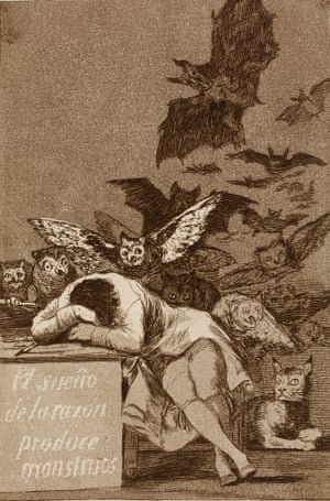 The sleep of reason produces monsters,circa 1797-98