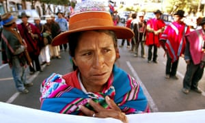 An indigenous woman in Bolivia where moves to frack are meeting with increasing concern among civil society.
