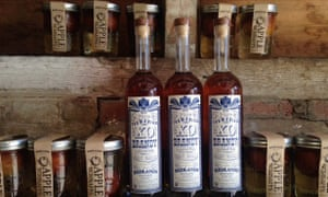 Tasmania is becoming famous for its produce, including apple sauce and brandy.