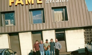 Darren Hanlon and friends outside the 'Fame' studios in the US.