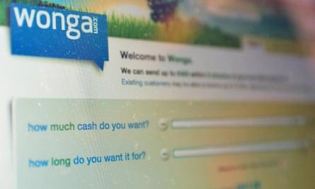 Wonga payday lender.