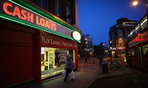 A payday loan shop in Brixton, south London.