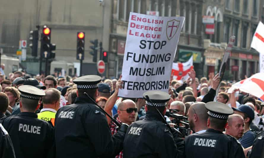 An EDL protest in Tower Hamlets in 2011