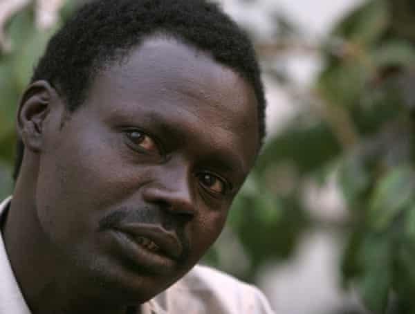 Minni Minnawi during an interview with the Associated Press in the Darfur town of El Fasher, 2006.