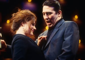 Sally Dexter and Ciaran Hinds in Closer by Patrick Marber at Cottesloe, National Theatre(