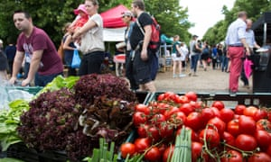 Wapping Market in East London, UK. Weekly produce market with the finest local farmers and producers.