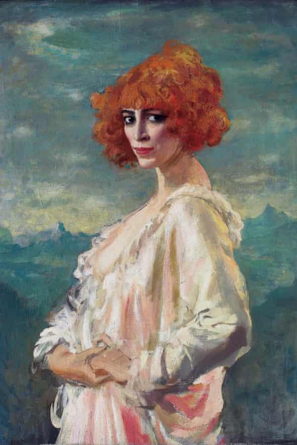Portrait of Marchesa Luisa Casati by Augustus John, 1919.