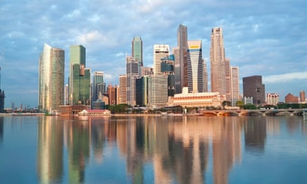 The Singapore skyline. The country is known for its zero tolerance on crime and vandalism.
