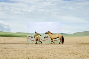 35% of Mongolians live a nomadic life and depend on their land for survival. This project attempts to recreate a museum diorama with actual people and their livestock in a real location
