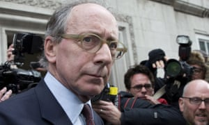 Sir Malcolm Rifkind makes his way to a waiting car in Westminster, London, on Tuesday.
