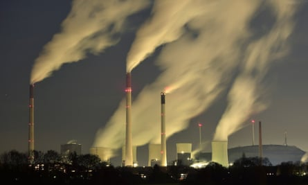 Smoke streams from the chimneys of the E.ON coal-fired power station in Gelsenkirchen, Germany