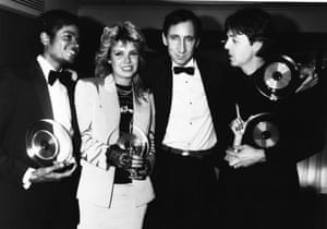 Brits Michael Jackson, Kim Wilde, Pete Townshend and Paul McCartney