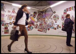 Part of Eduardo Paolozzi's mosaic at Tottenham Court Road underground station.