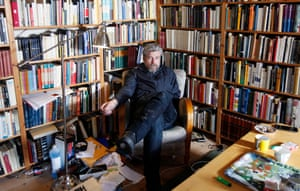 Knausgaard in his writing studio: 'I get so tired of my own voice.'