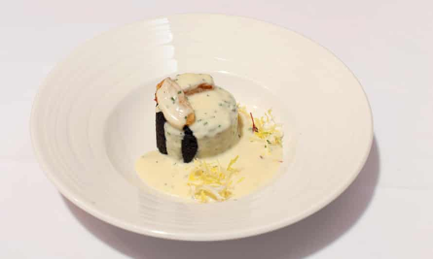 The black pudding cake dish
