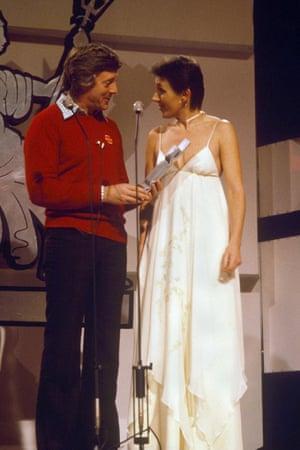 Brits Michael Aspel and Julie Covington