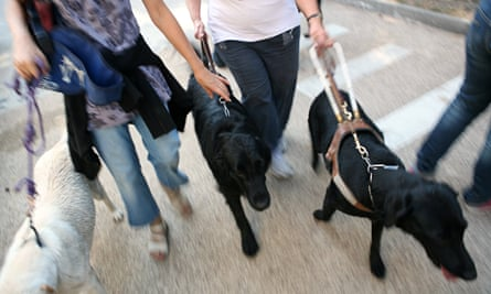 Women with guide dogs