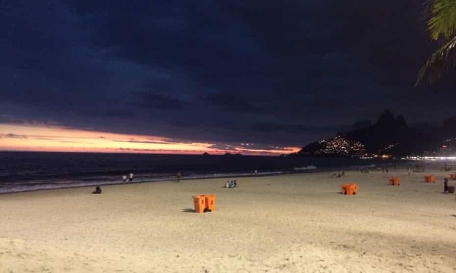 Sunset at Ipanema, Brazil