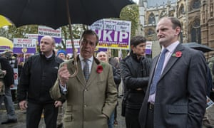 Nigel Farage and Douglas Carswell outside the House of Commons