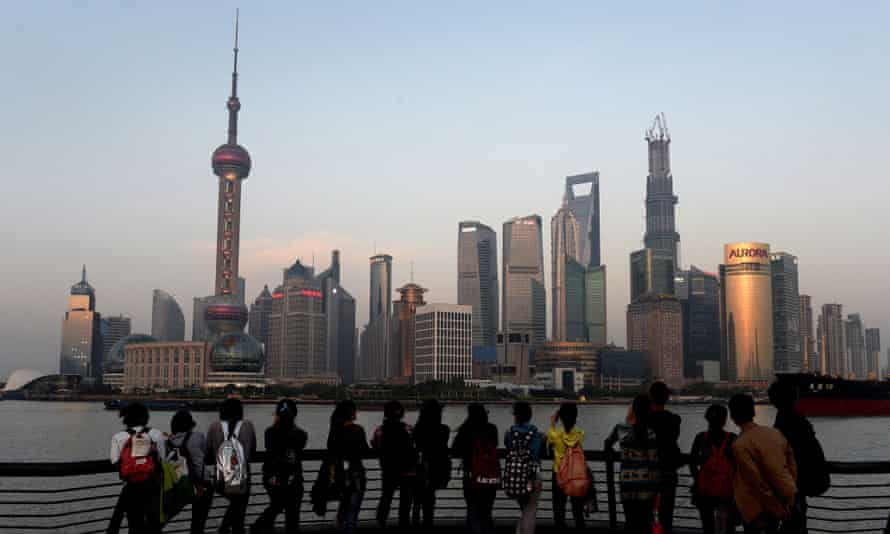 Shanghai's Pudong financial district. China is the world's second biggest economy.
