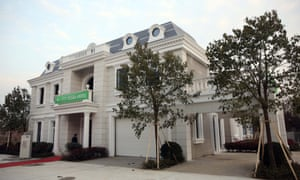 The 3D-printed villa by WinSun, on display in Suzhou industrial park.