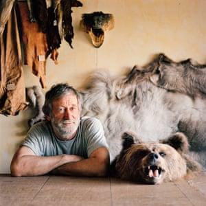 Jokkmokk, Sweden. Lars Anders Håkansson, tanner. I met Lars again in 2010. He was still with this bear