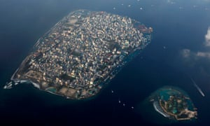The Maldives capital, Malé, aerial view