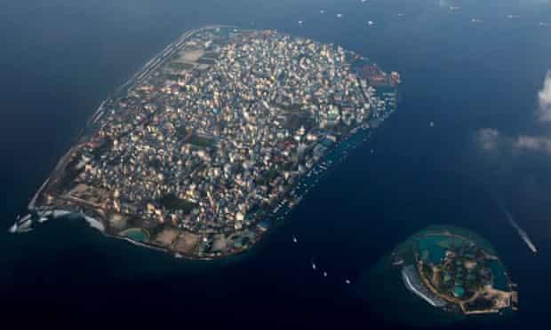 The Maldives capital, Malé, aerial view