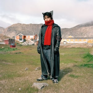 Sisimiut, Greenland. Pavia Ludvigsen has apparently modelled himself on a bat since he was a young child