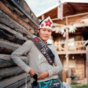 Fort Yukon, Alaska Chasity Herbert, the newly- crowned Miss Fort Yukon