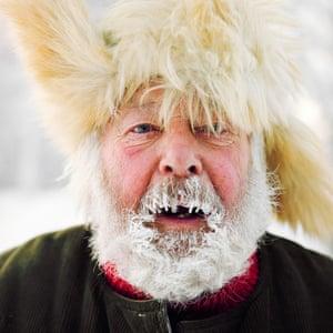 Jokkmokk, Sweden. Hans Bengtson, aself-proclaimed 'master of glibness and sausage poet'