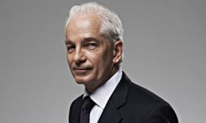 David Gower in a shirt and tie half-turned, smiling
