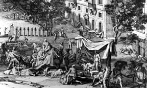 1720. The Great Plague in Marseilles,