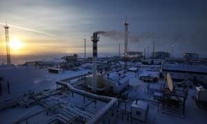 Gazprom's Novoportovskoye oilfield in northern Russia.