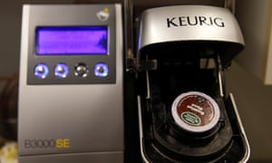 Sales of coffee pods for the slick single-serve machines like Keurig Green Mountain's Keurig, Nestle's Nespresso, and Starbucks' Verismo soared to $3.8 billion in 2014 from $234 million in 2009, Mintel market research data shows.