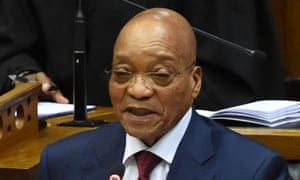The South African president, Jacob Zuma.