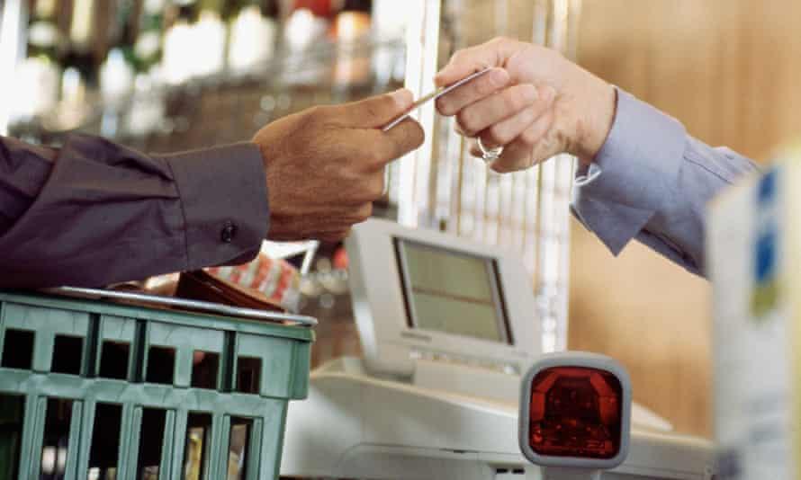 A transaction at a till