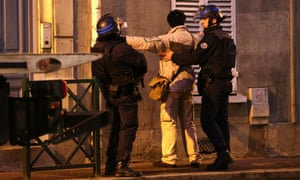 French police stop search Charlie Hebdo