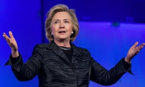 Hillary Clinton speaking to technology executives at the 'Lead On' conference in Santa Clara