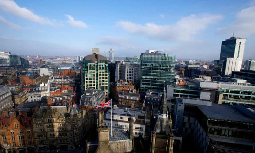 The view from Manchester town hall. The Greater Manchester Combined Authority (GMCA) eventually hopes for full devolution of all £22bn of public spending.