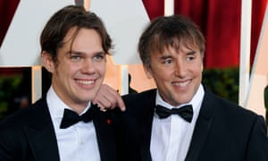 Twelve more years …Ellar Coltrane and Richard Linklater on the red carpet at last Sunday's Oscars.