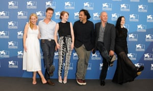 The cast and director of Birdman at last year's Venice film festival.