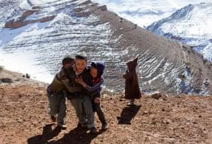 Children play in the village of Ait Sghir
