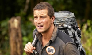 Survival of the fittest: Bear Grylls takes to the woods.