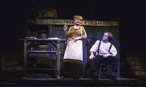 Angela Lansbury and Len Cariou in Sweeney Todd