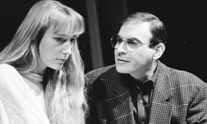 Lia Williams as Carol and David Suchet as John in Oleanna.